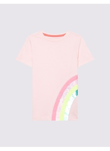 Marks & Spencer Değişen Pullu Kısa Kollu T-Shirt Pembe